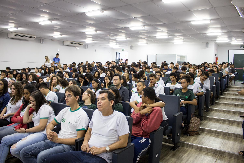Auditório do Campus Trindade durante a SNCT 2018. Previsão inicial é de que evento seja on-line em 2021